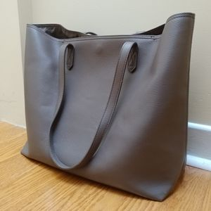 HOST PICK Vegan faux leather tote purse brown
